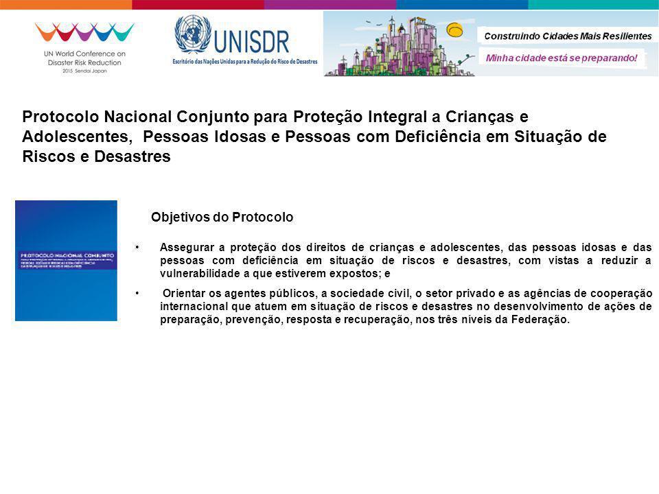 Protocolo Nacional Conjunto para Proteção Integral a Crianças e Adolescentes, Pessoas Idosas e Pessoas com Deficiência em Situação de Riscos e Desastr