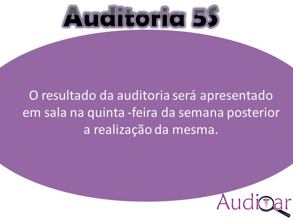 Auditar(colocar a logomarca) Compromisso com a excelência (sugestão) O resultado da auditoria será apresentado em sala na quinta -feira da semana posterior a realização da mesma.