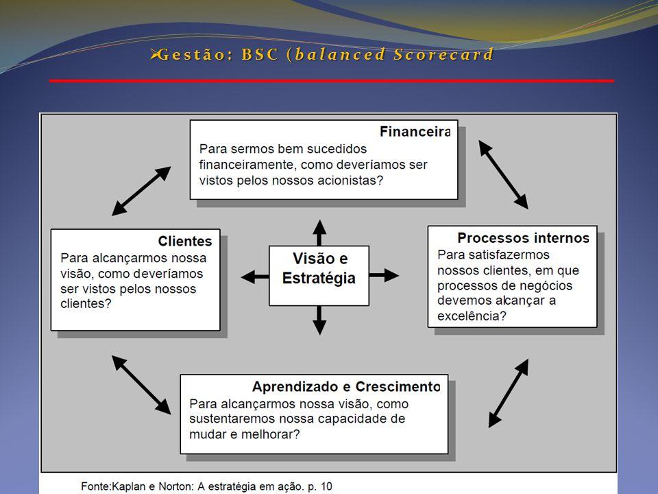  Gestão: BSC (balanced Scorecard
