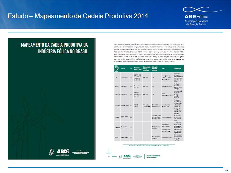 Estudo – Mapeamento da Cadeia Produtiva 2014 24