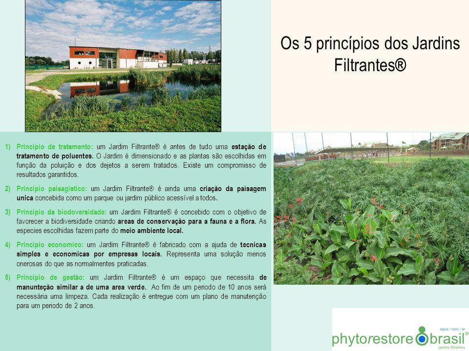 Os 5 princípios dos Jardins Filtrantes ® 1)Princípio de tratamento: um Jardim Filtrante® é antes de tudo uma estação de tratamento de poluentes. O Jar