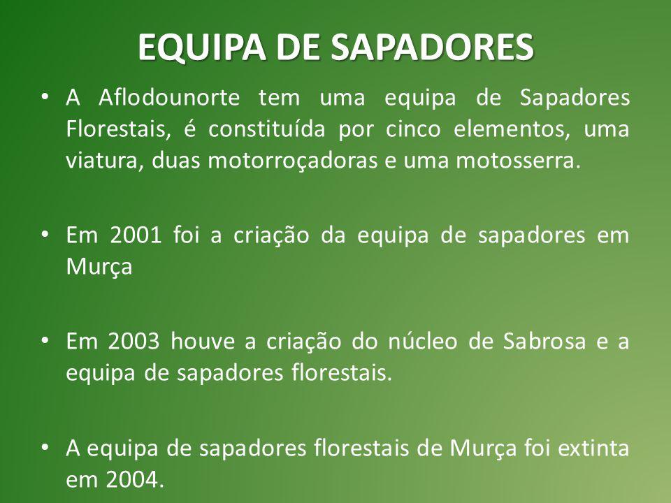EQUIPA DE SAPADORES A Aflodounorte tem uma equipa de Sapadores Florestais, é constituída por cinco elementos, uma viatura, duas motorroçadoras e uma motosserra.