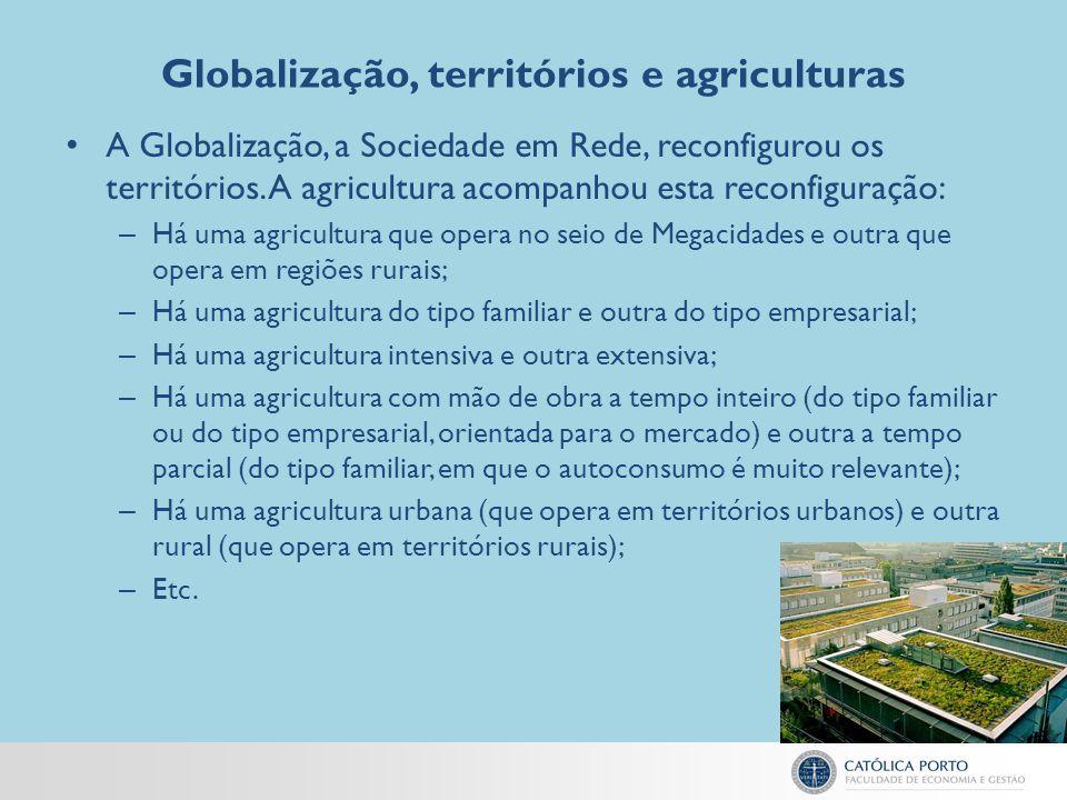 Globalização, territórios e agriculturas A Globalização, a Sociedade em Rede, reconfigurou os territórios. A agricultura acompanhou esta reconfiguraçã