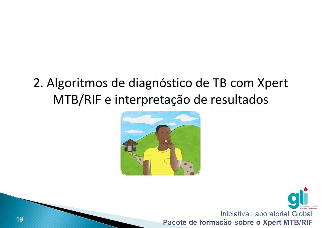 Iniciativa Laboratorial Global Pacote de formação sobre o Xpert MTB/RIF -19- 2. Algoritmos de diagnóstico de TB com Xpert MTB/RIF e interpretação de r