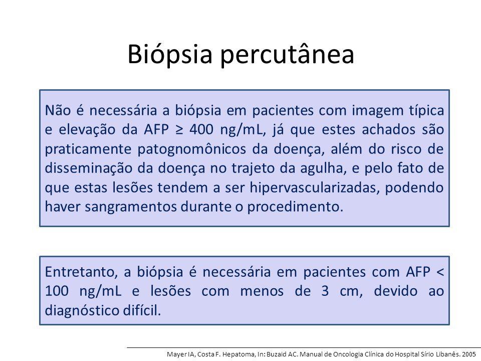 Biópsia percutânea Mayer IA, Costa F. Hepatoma, In: Buzaid AC.