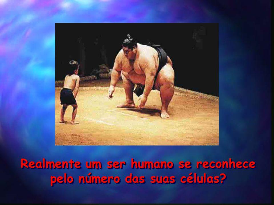 Realmente um ser humano se reconhece pelo número das suas células.