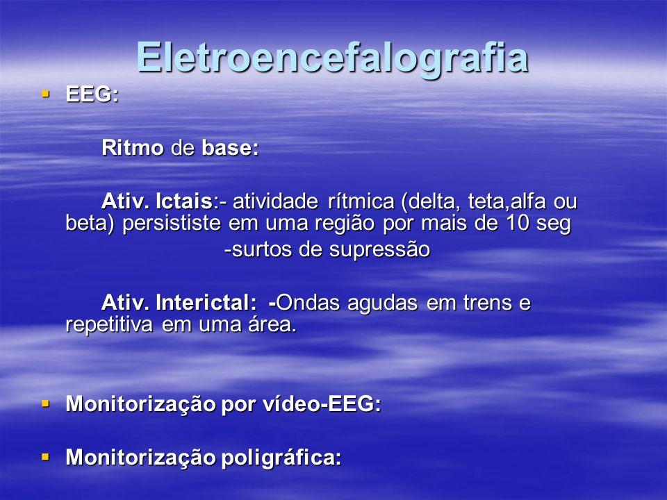 Retirada da medicação  RN: Ex.N.normal→EEG normal→ retirar a DAE.