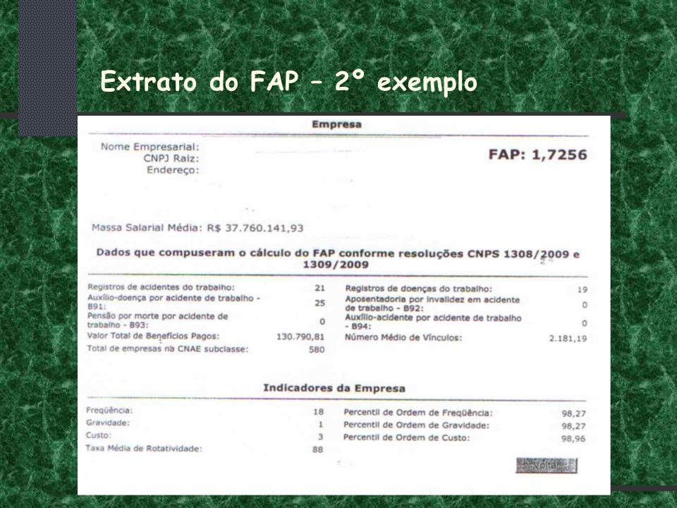 Extrato do FAP – 2º exemplo