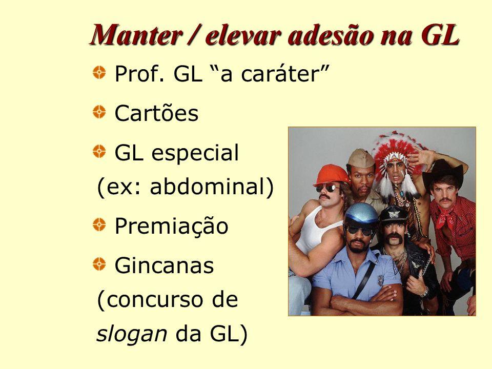 Manter / elevar adesão na GL Prof.