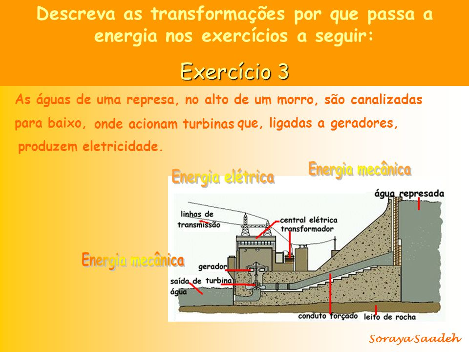 Descreva as transformações por que passa a energia nos exercícios a seguir: Exercício 4 Uma criança coloca uma pilha num carrinho que, quando ligado, corre, acende os faróis e toca a buzina.