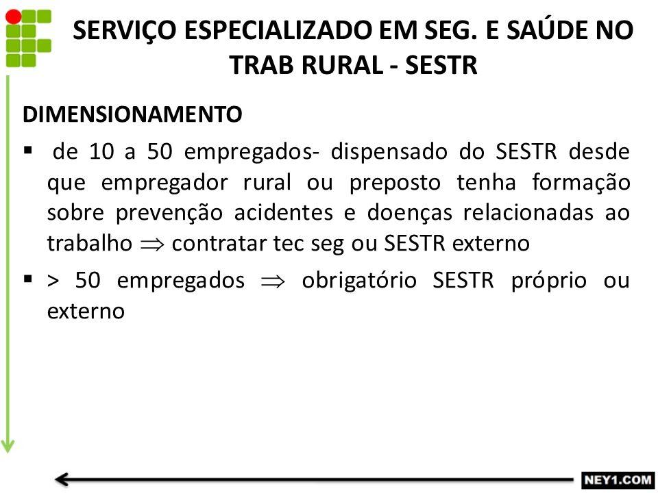 SERVIÇO ESPECIALIZADO EM SEG.