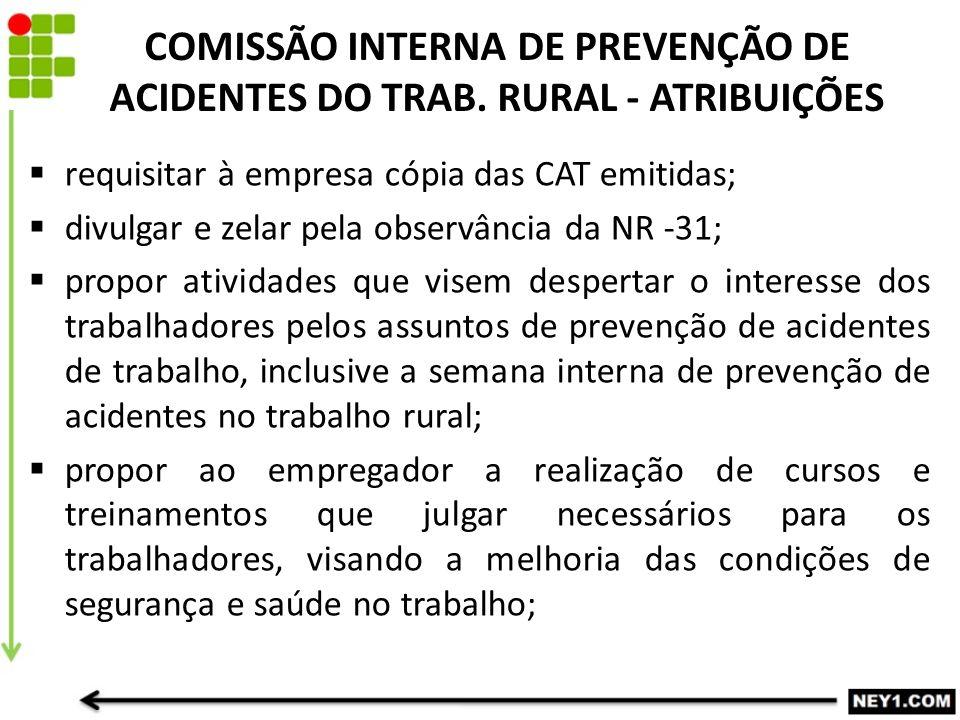 COMISSÃO INTERNA DE PREVENÇÃO DE ACIDENTES DO TRAB.