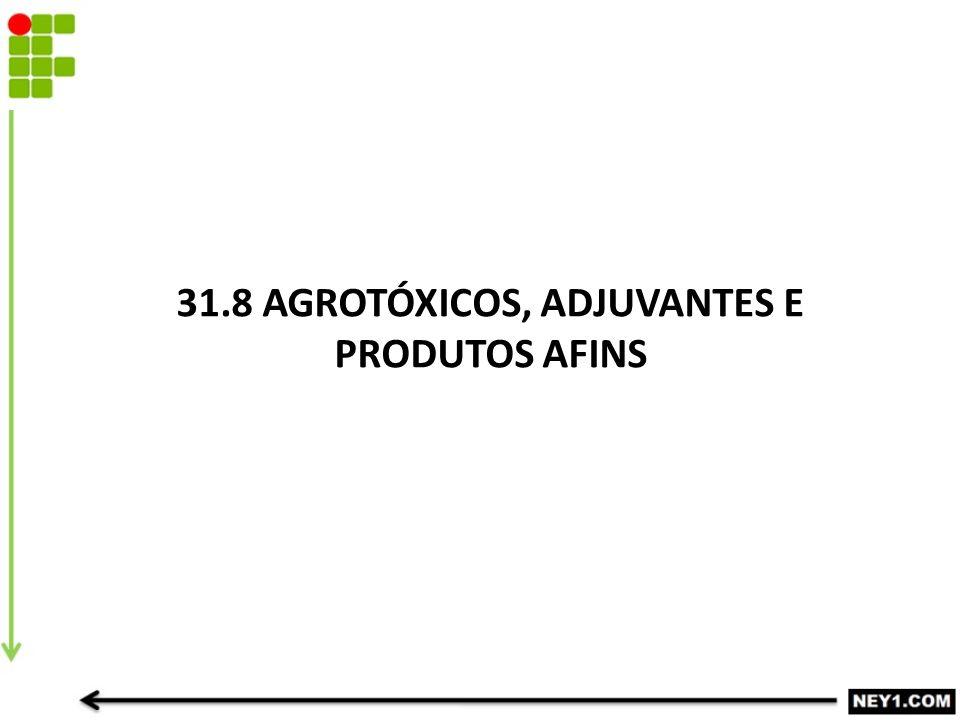 31.8 AGROTÓXICOS, ADJUVANTES E PRODUTOS AFINS