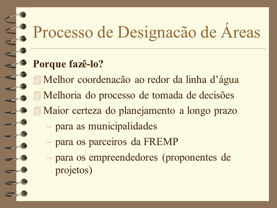 Processo de Designacão de Áreas Porque fazê-lo.