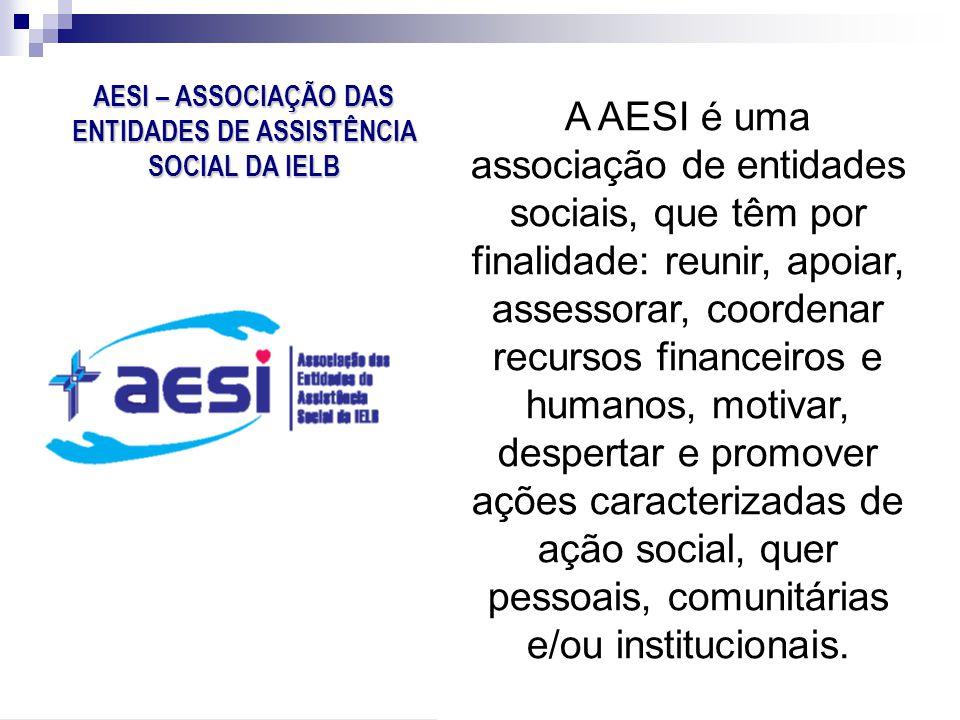 A AESI é uma associação de entidades sociais, que têm por finalidade: reunir, apoiar, assessorar, coordenar recursos financeiros e humanos, motivar, d