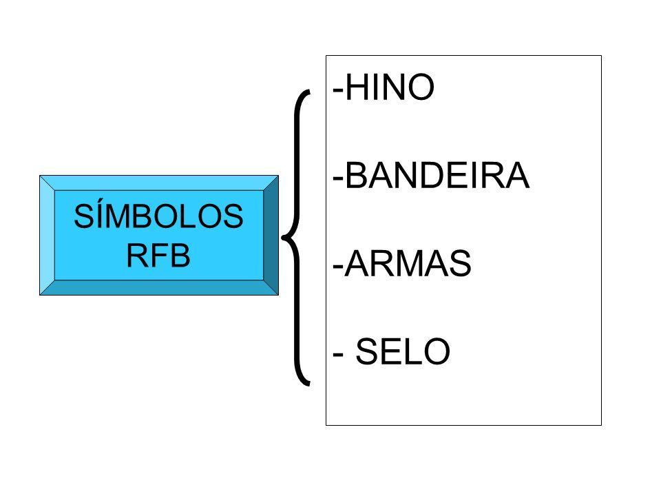 SÍMBOLOS RFB -HINO -BANDEIRA -ARMAS - SELO