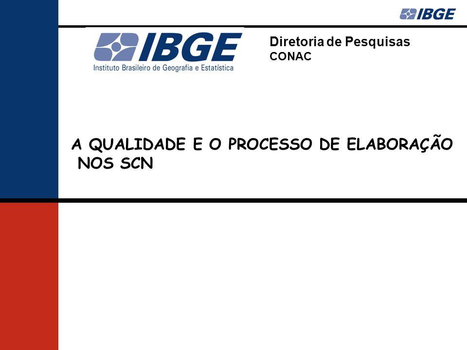 Diretoria de Pesquisas CONAC A QUALIDADE E O PROCESSO DE ELABORAÇÃO NOS SCN