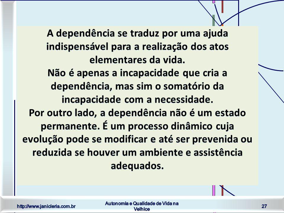 http://www.janicleria.com.br Autonomia e Qualidade de Vida na Velhice 27