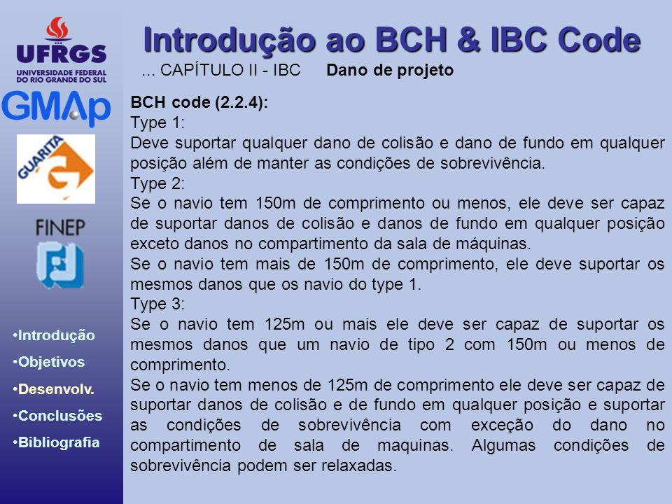 Introdução ao BCH & IBC Code Introdução Objetivos Desenvolv. Conclusões Bibliografia BCH code (2.2.4): Type 1: Deve suportar qualquer dano de colisão