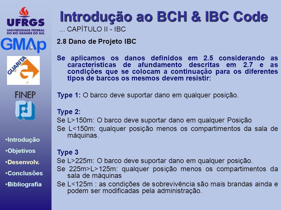 Introdução ao BCH & IBC Code Introdução Objetivos Desenvolv. Conclusões Bibliografia 2.8 Dano de Projeto IBC Se aplicamos os danos definidos em 2.5 co
