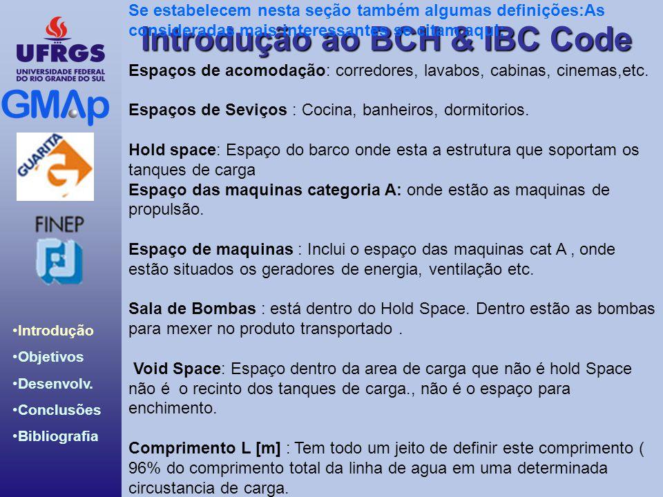 Introdução ao BCH & IBC Code Introdução Objetivos Desenvolv. Conclusões Bibliografia Se estabelecem nesta seção também algumas definições:As considera