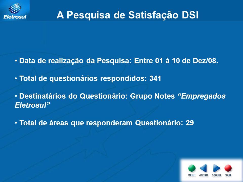 Resultado da Pesquisa de Satisfação dos Usuários das Áreas de Suprimentos do DSI Fabrício Emanoel Réus Data: 20/03/2009 Diretoria de Gestão Administrativa e Financeira Departamento de Suprimentos e Infraestrutura – DSI