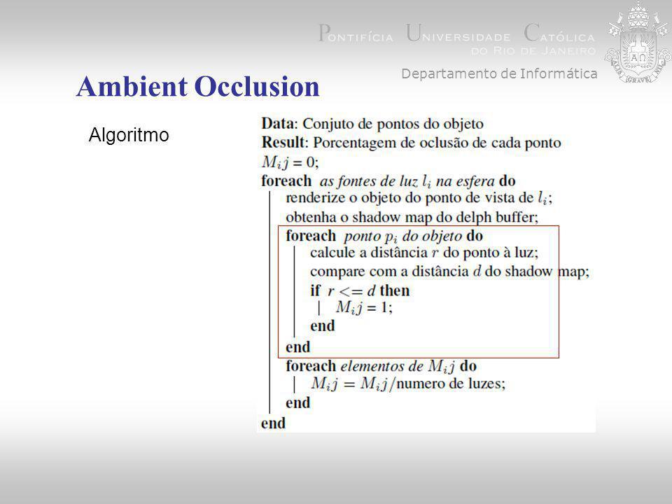 Departamento de Informática Ambient Occlusion Algoritmo