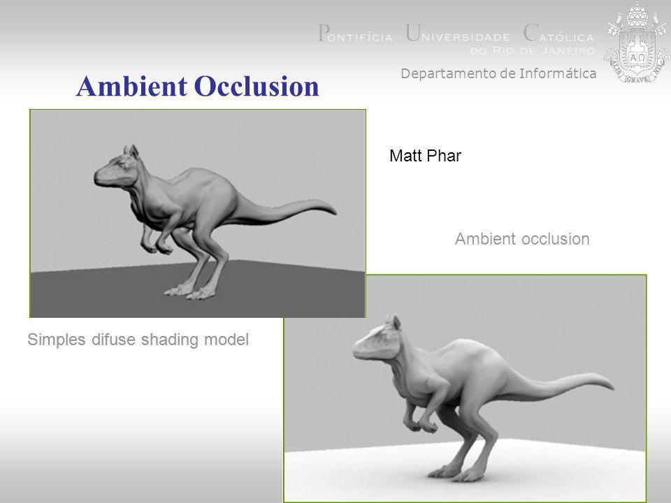 Departamento de Informática Ambient Occlusion Simples difuse shading model Ambient occlusion Simples difuse shading model Matt Phar
