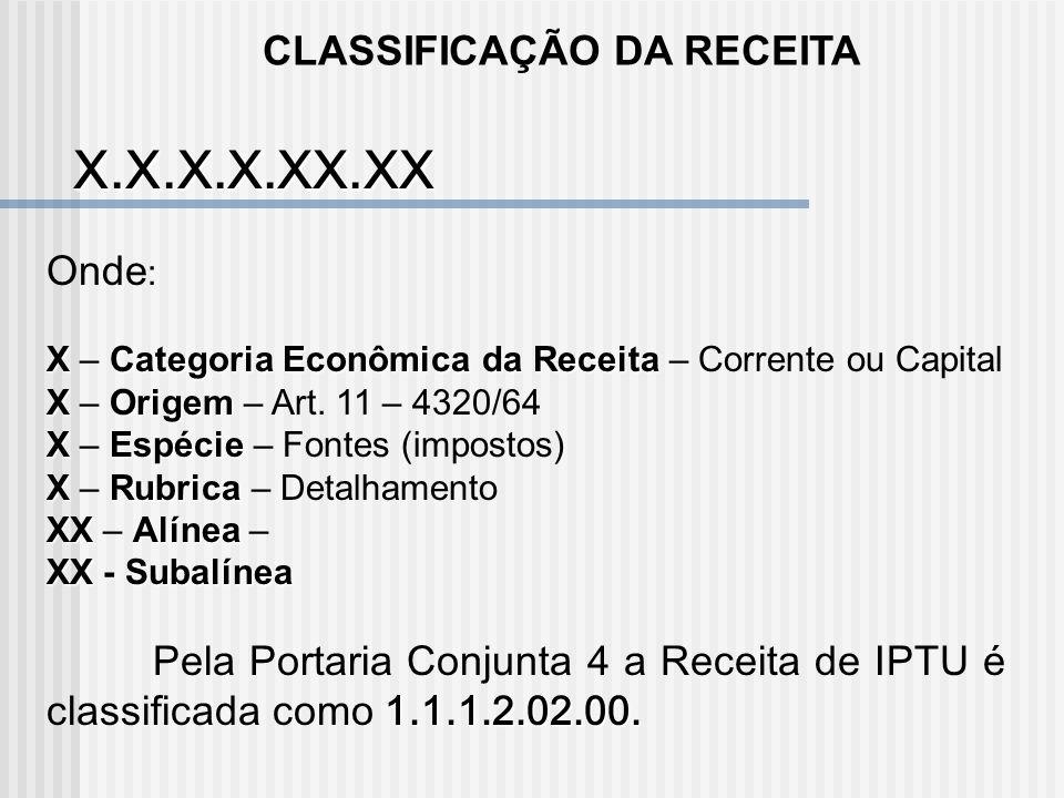 CLASSIFICAÇÃO CONTÁBIL DA DESPESA X.X.X.X.X.XX.XX Onde : X – CLASSE XGRUPO – CATEGORIA ECONÔMICA X – GRUPO – CATEGORIA ECONÔMICA XSUB-GRUPO – GRUPO NA