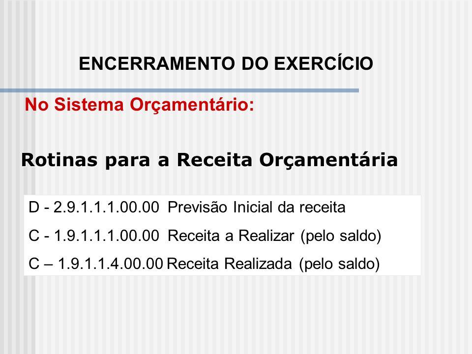 CONTABILIZAÇÃO DE EVENTOS D – 2.1.2.1.9.10.02 – Encargos Previdenciários da UNIÃO – Exercícios Anteriores (PC) C - 1.1.1.1.2.99.00 – Outras Contas No