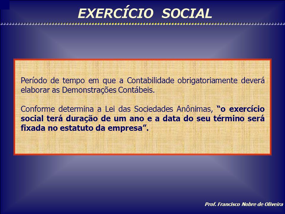 Prof. Francisco Nobre de Oliveira TÉCNICAS Escrituração: registro dos fatos contábeis obedecendo metodologia própria. Demonstrações Contábeis: apresen