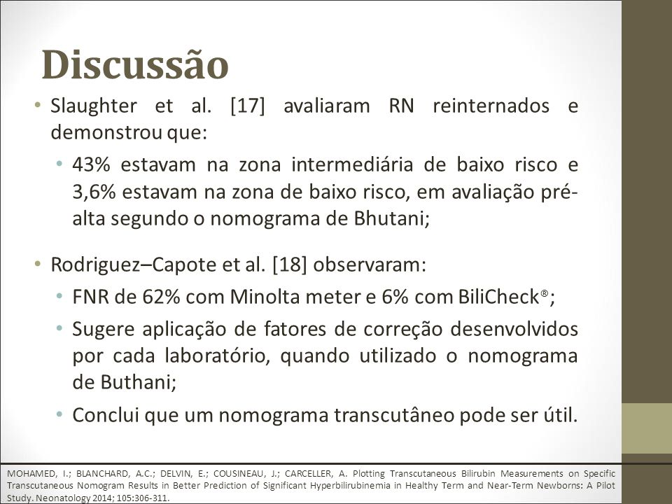 Discussão Slaughter et al.