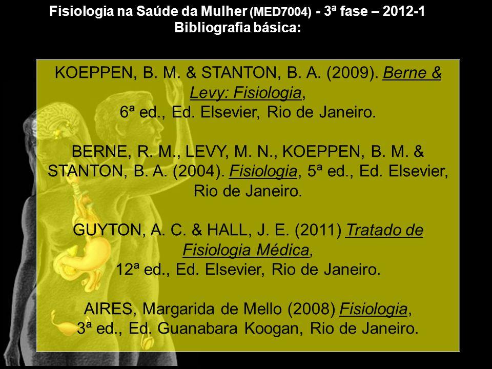 KOEPPEN, B.M. & STANTON, B. A. (2009). Berne & Levy: Fisiologia, 6ª ed., Ed.
