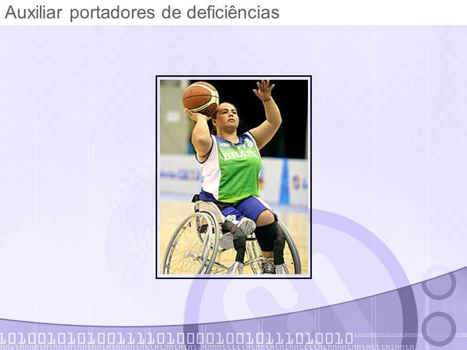 Auxiliar portadores de deficiências
