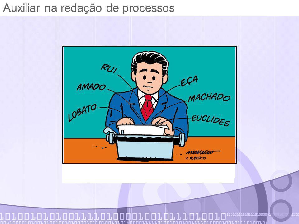 Auxiliar na redação de processos