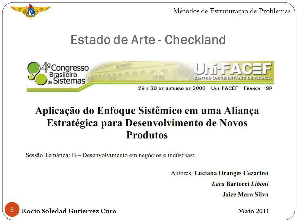 4 Estado de Arte - Checkland Rocio Soledad Gutierrez Curo Maio 2011 Métodos de Estruturação de Problemas