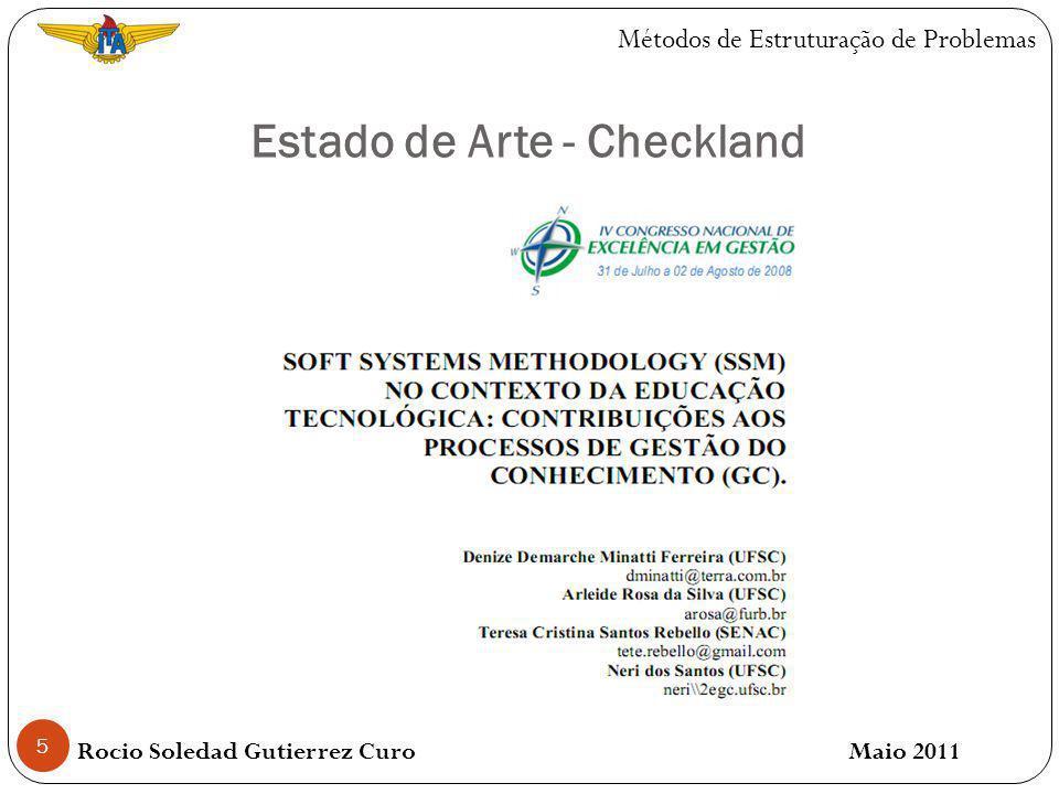 5 Estado de Arte - Checkland Rocio Soledad Gutierrez Curo Maio 2011 Métodos de Estruturação de Problemas