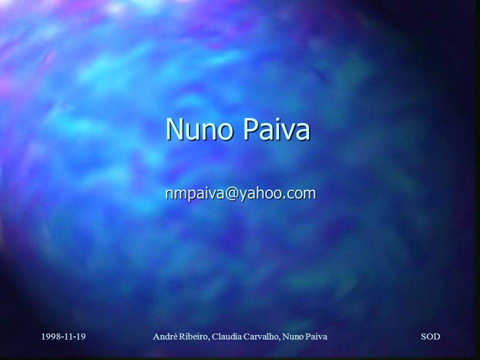 """SOD 1998-11-19André Ribeiro, Claudia Carvalho, Nuno Paiva Protocolo de comunicações n PUP byte streams; Xerox NS """"Courier"""" n Desenhado para este proje"""