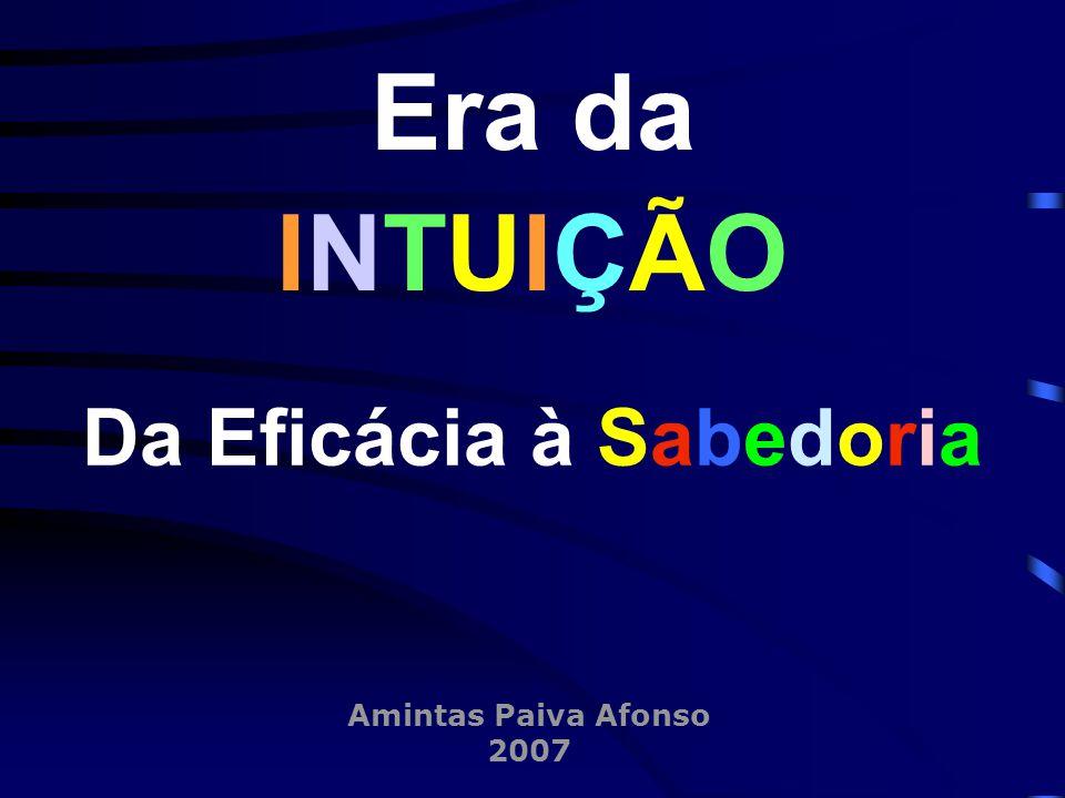 Amintas Paiva Afonso 2007 Era da INTUIÇÃO Da Eficácia à Sabedoria