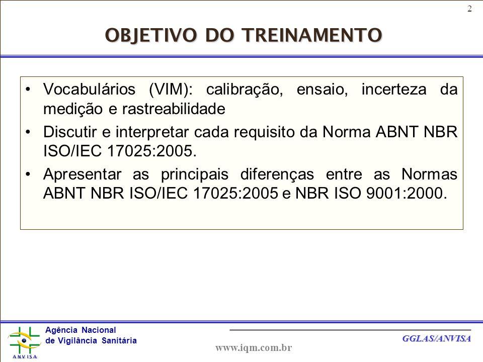 43 Agência Nacional de Vigilância Sanitária GGLAS/ANVISA www.iqm.com.br Registros manuscritos devem ser à tinta e as alterações devem ser rubricadas após riscar o texto anterior, deixando-o legível.