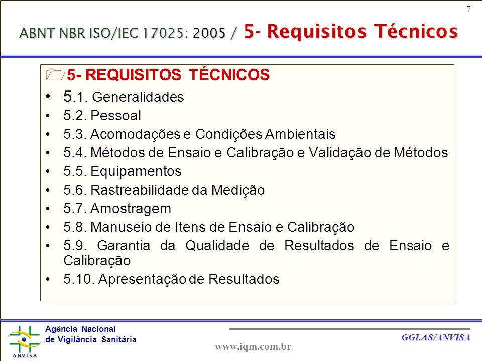 28 Agência Nacional de Vigilância Sanitária GGLAS/ANVISA www.iqm.com.br 4.2.3- POLÍTICA DA QUALIDADE - PQ A PQ deve estar documentada no manual da qualidade e divulgada e compreendida entre o pessoal do laboratório.