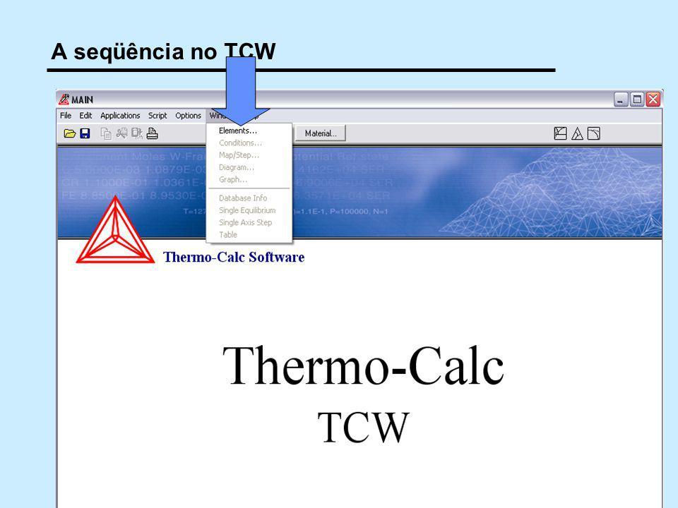 19 10/2009 © 2005,2011 André Luiz V. da Costa e Silva A seqüência no TCW