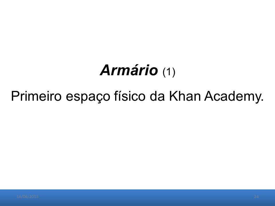 16/06/201324 Armário (1) Primeiro espaço físico da Khan Academy.