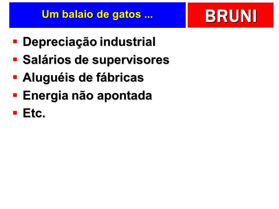 BRUNI Sub-capítulo Custos Indiretos de Fabricação