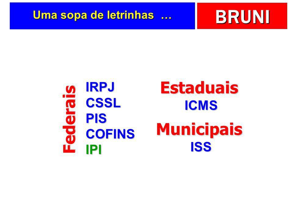 BRUNI Impostos …  No Brasil, algumas caraterísticas:  Relevância  Complexidade