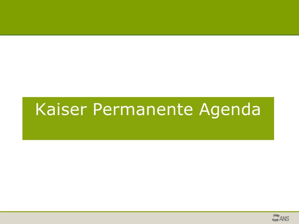 Kaiser Permanente Agenda