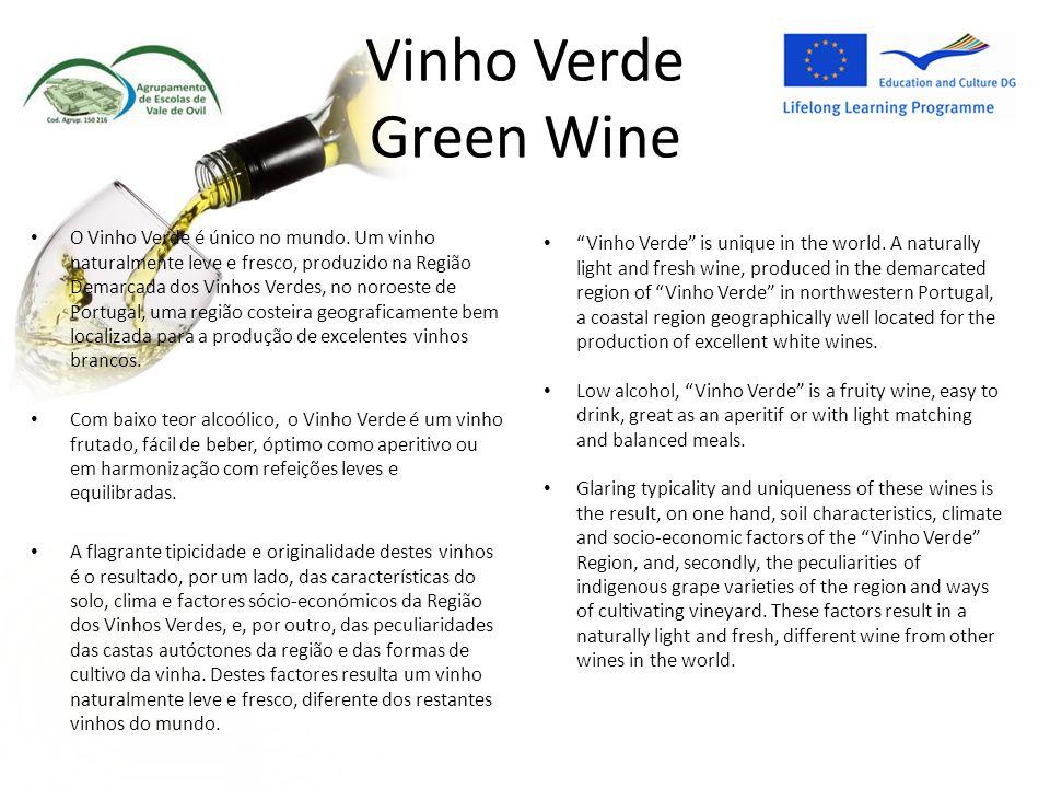 Vinho Verde Green Wine O Vinho Verde é único no mundo.