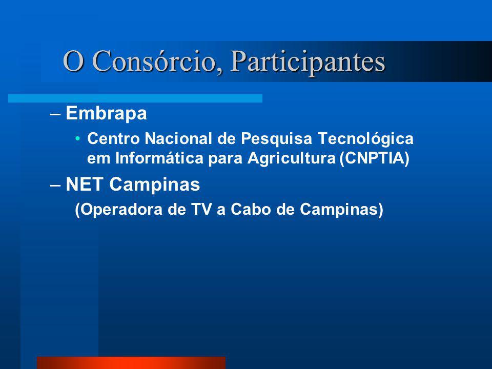 O Consórcio, Participantes –Embrapa Centro Nacional de Pesquisa Tecnológica em Informática para Agricultura (CNPTIA) –NET Campinas (Operadora de TV a