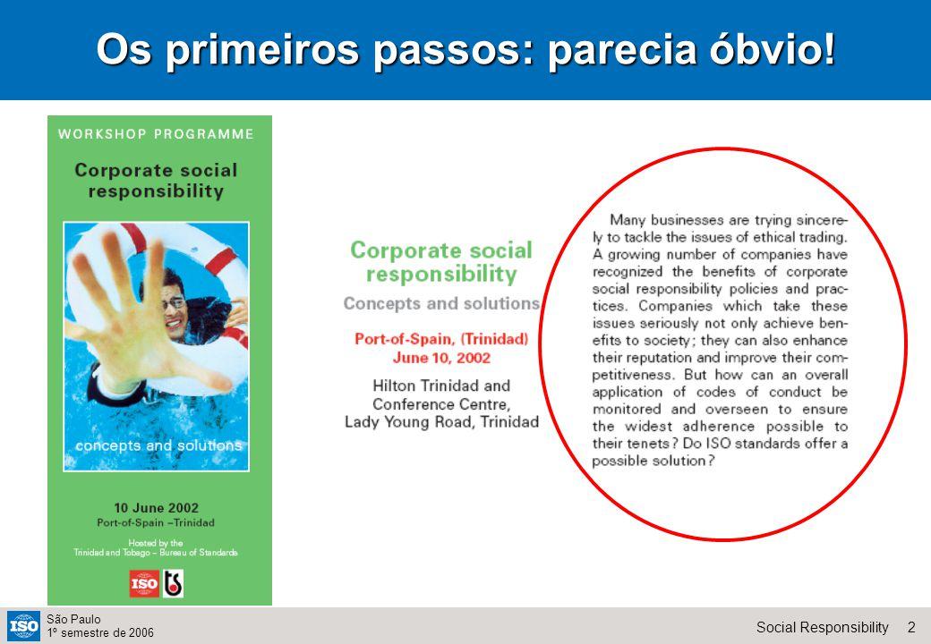33Social Responsibility São Paulo 1º semestre de 2006 Bem...