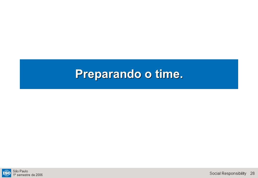 28Social Responsibility São Paulo 1º semestre de 2006 Preparando o time.